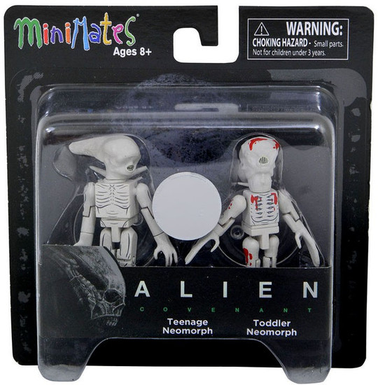 Alien Covenant Minimates Teenage & Toddler Neomorphs Exclusive 2-Inch Minifigure Deluxe Set