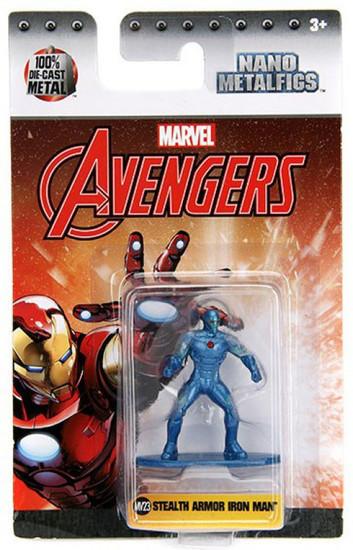 Marvel Avengers Nano Metalfigs Stealth Armor Iron Man 1.5-Inch Diecast Figure MV31