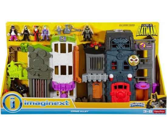 Fisher Price DC Super Friends Imaginext Legends of Batman Crime Alley 3-Inch Figure Playset
