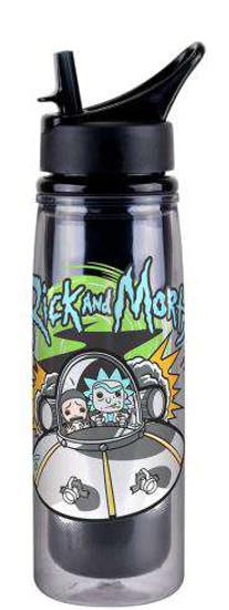 Funko Rick & Morty Spaceship 20 oz Acrylic Water Bottle