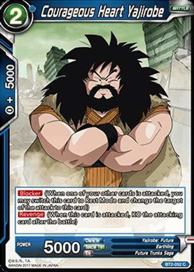 Dragon Ball Super Trading Card Game Union Force Common Courageous Heart Yajirobe BT2-052