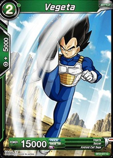 Dragon Ball Super Collectible Card Game Union Force Common Vegeta BT2-077