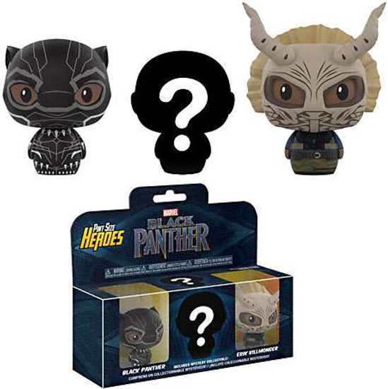 Funko Marvel Pint Size Heroes Black Panther 3-Pack with Mystery Chase