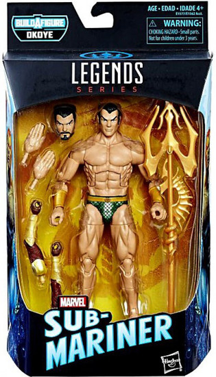 Black Panther Marvel Legends Okoye Series Namor the Sub Mariner Action Figure