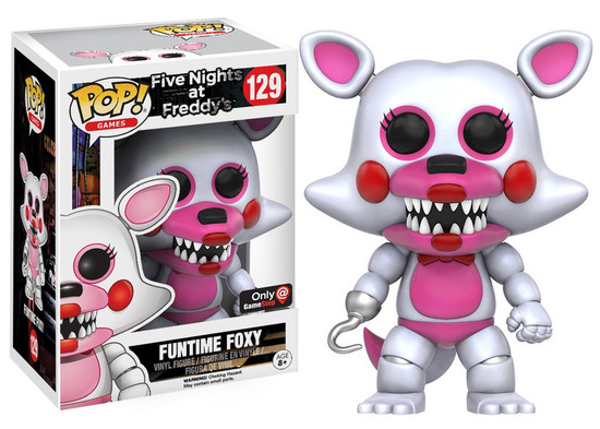 Funko Five Nights at Freddy's POP! Games Funtime Foxy Exclusive Vinyl Figure #129 [Flocked]