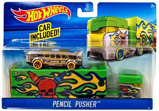 Hot Wheels Pencil Pusher Diecast Car [Green]
