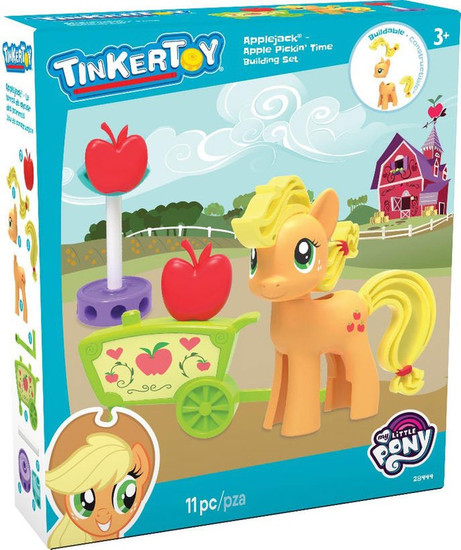 K'NEX Tinker Toy My Little Pony Applejack Apple Pickin' Time Set #28444