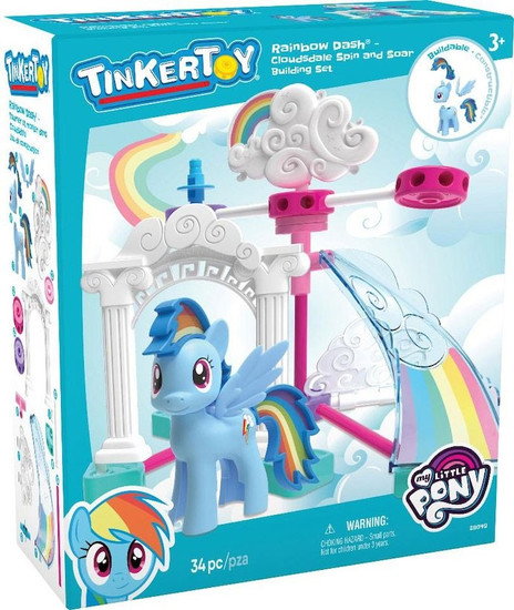 K'NEX Tinker Toy My Little Pony Rainbow Dash Cloudsdale Spin & Soar Set #28049
