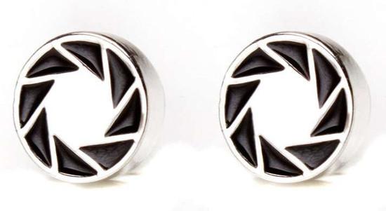 Portal 2 Aperture 80's Logo Earrings