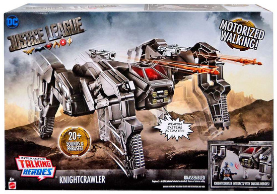 DC Justice League Movie Interactive Talking Heroes Knightcrawler Action Figure Vehicle