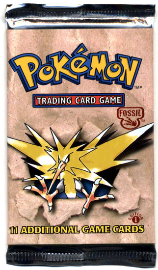 Pokemon Trading Card Game Fossil Booster Pack [1st Edition, 11 Cards]