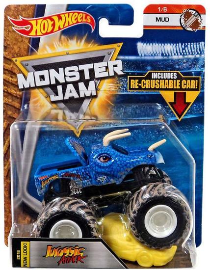 Hot Wheels Monster Jam 25 Jurassic Attack Die-Cast Car #1/6 [Mud]