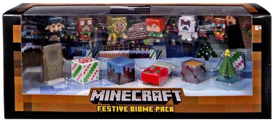 Minecraft Festive Biome Pack Mini Figure 12-Pack