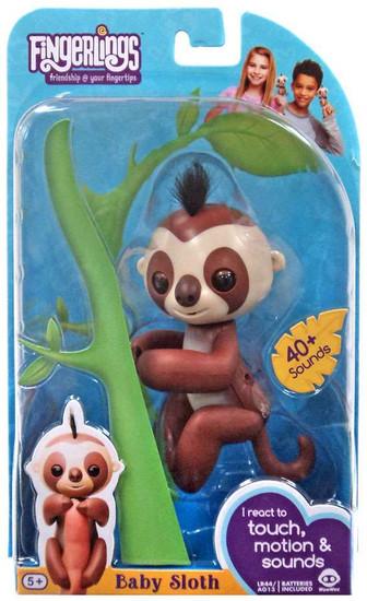 Fingerlings Baby Sloth Kingsley Figure [Brown]