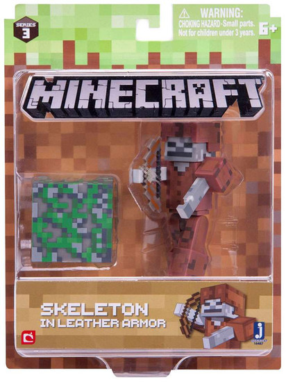 Minecraft Series 3 Skeleton in Leather Armor Action Figure Set
