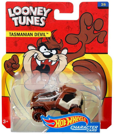 Hot Wheels Looney Tunes Character Cars Tasmanian Devil Diecast Car #3/6