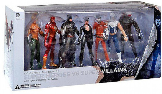 DC The New 52 Super Heroes vs. Super Villains Action Figure 7-Pack