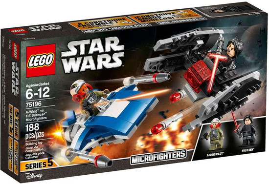 LEGO Star Wars Microfighters Series 5 A-Wing vs. TIE Silencer Set #75196