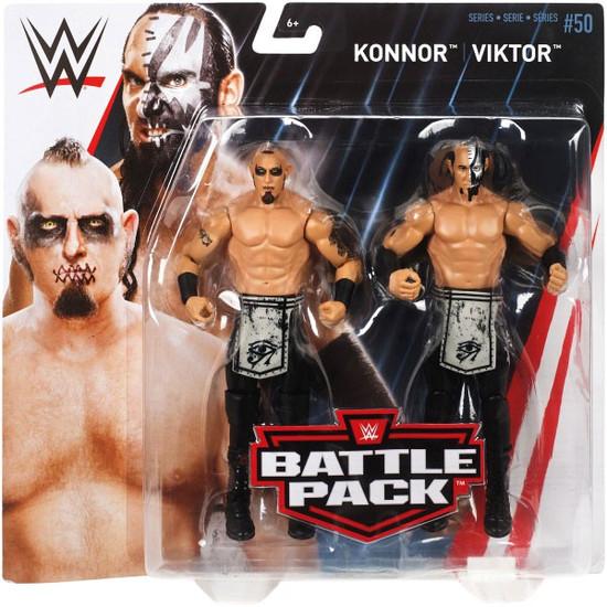 WWE Wrestling Battle Pack Series 50 Viktor & Konnor Action Figure 2-Pack