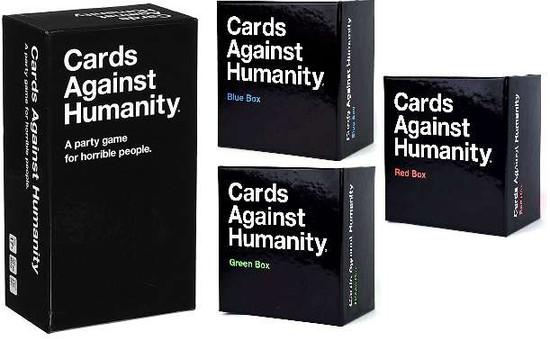 Cards Against Humanity Starter & Red, Green, & Blue Boxes