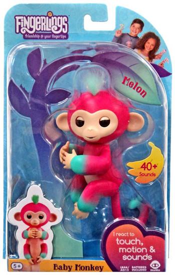 Fingerlings Baby Monkey Melon Figure