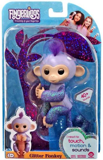 Fingerlings Glitter Monkey Kiki Figure