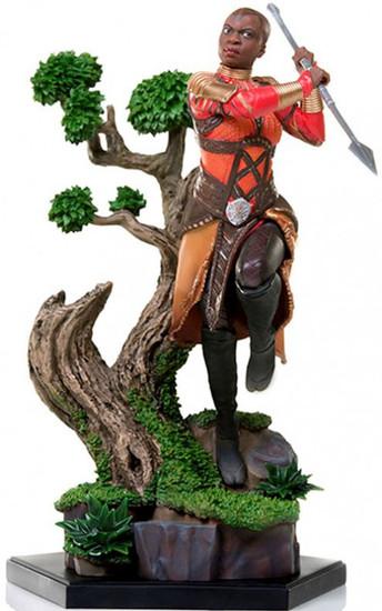 Marvel Black Panther Okoye Battle Diorama Statue