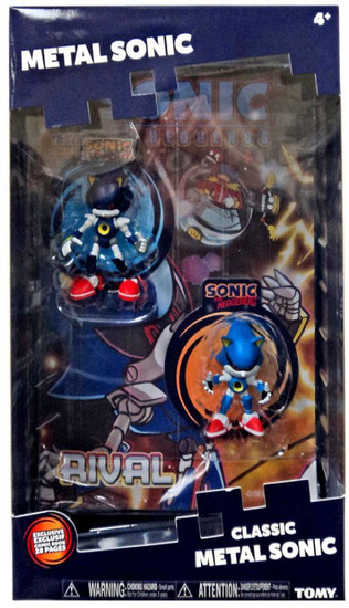Sonic The Hedgehog Classic Metal Sonic & Modern Metal Sonic Action Figure 2-Pack [With Comic]