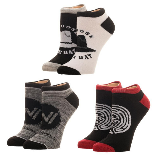 Westworld Live Without Limits Juniors Ankle Socks 3-Pack