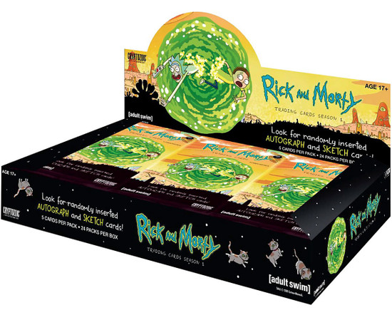 Rick & Morty Season 1 Trading Card Box [24 Packs]