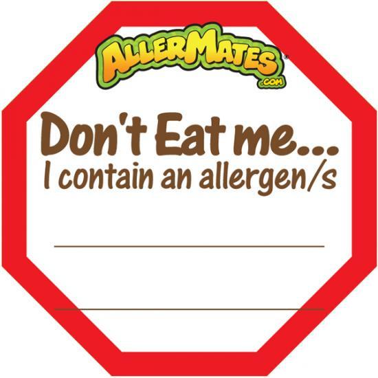 AllerMates Allergey Allert Fill In Alert Labels [24 Pack]