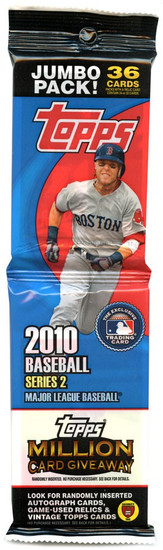 MLB Topps 2010 Series 2 Baseball Trading Card JUMBO Pack [36 Cards!]