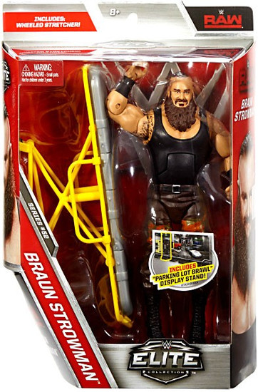 WWE Wrestling Elite Collection Series 52 Braun Strowman Action Figure [Wheeled Stretcher, Damaged Package]