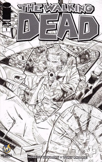 Image Comics The Walking Dead #1 Exclusive Comic Book [B & W Wizard World Philly Variant Cover]