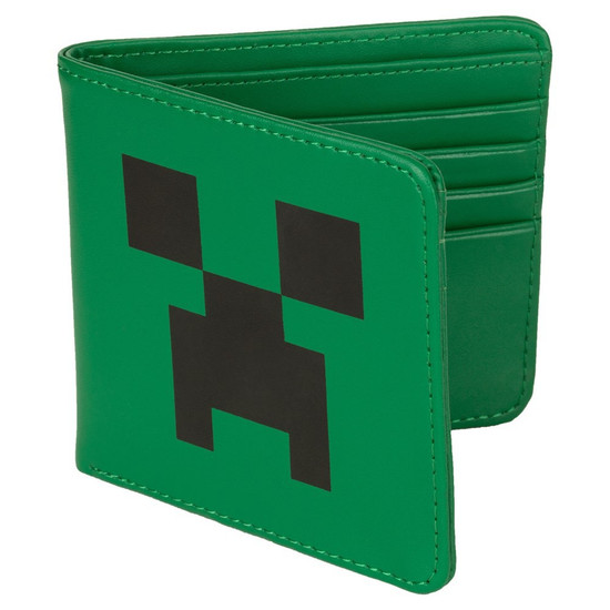 Minecraft Creeper Face Faux Leather Wallet