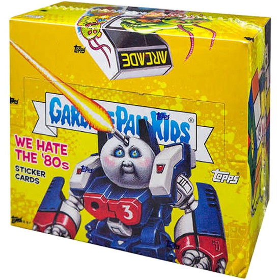 Garbage Pail Kids Topps 2018 We Hate the 80's Trading Sticker Card HOBBY Box [24 Packs]