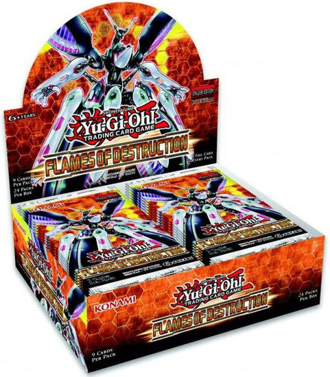 YuGiOh Trading Card Game Flames of Destruction Booster Box [24 Packs]