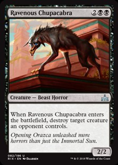 MtG Rivals of Ixalan Uncommon Ravenous Chupacabra #82