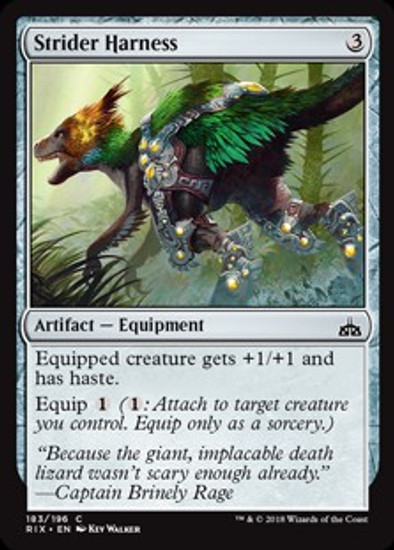 MtG Rivals of Ixalan Common Strider Harness #183