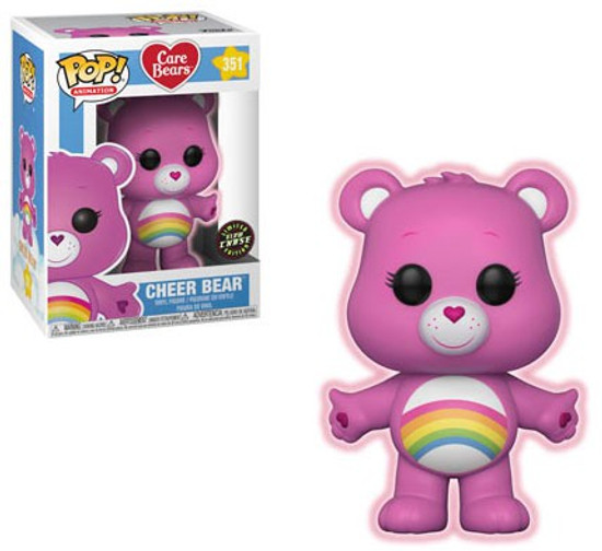 Funko Care Bears POP! Animation Cheer Bear Vinyl Figure #351 [Glow-in-the-Dark Chase Version]