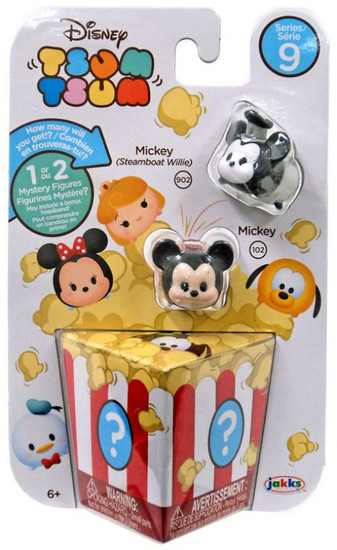 Disney Tsum Tsum Series 9 Mickey (Steamboat Willie) & Mickey 1-Inch Minifigure 3-Pack