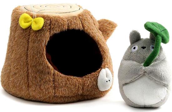 Studio Ghibli My Neighbor Totoro Totoro and Tree Trunk 4-Inch Plush