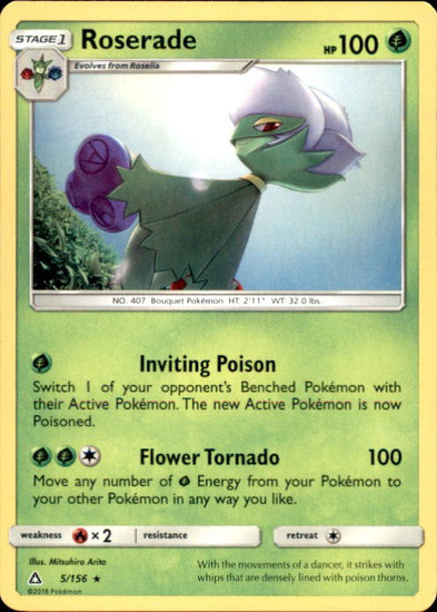 Pokemon Sun & Moon Ultra Prism Rare Roserade #5