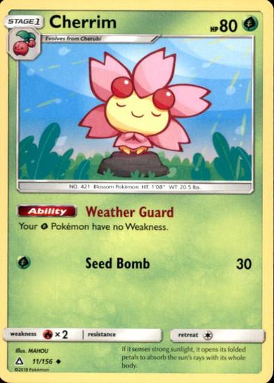 Pokemon Sun & Moon Ultra Prism Uncommon Cherrim #11
