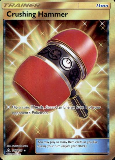 Pokemon Sun & Moon Ultra Prism Secret Rare Crushing Hammer #166