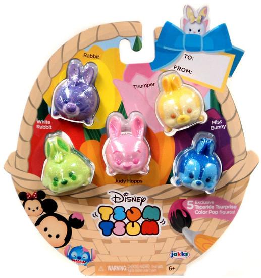 Disney Easter Tsparkle Tsurprise Color Pop Exclusive 1-Inch Minifigure 5-Pack