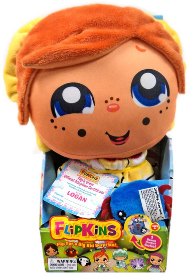Flipkins Pocket Cuties Logan 8-Inch Plush Doll