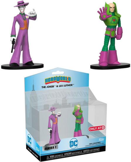 Funko DC Hero World The Joker & Lex Luthor Exclusive 4-Inch Vinyl Figure 2-Pack