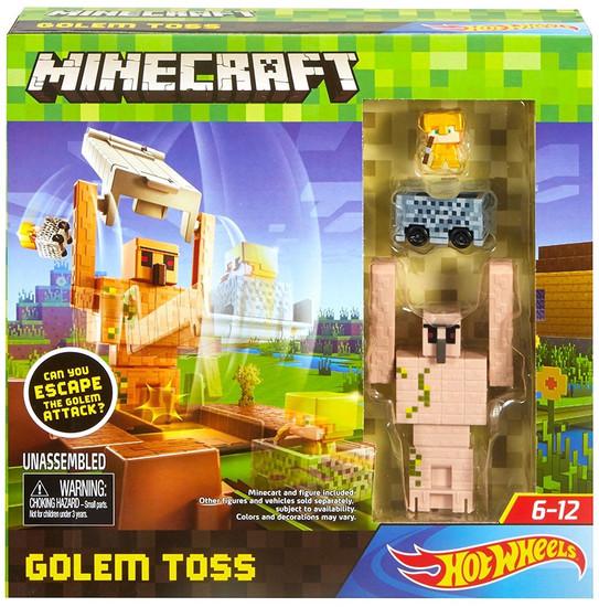 Minecraft Hot Wheels Golem Toss Track Set