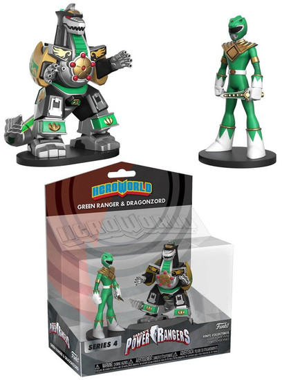 Funko Power Rangers Hero World Series 4 Green Ranger & Dragon Zord Exclusive 4-Inch Vinyl Figure 2-Pack